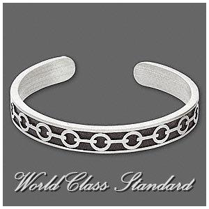 J. R.Lacoste fashion bracelet with Absolu® pewter with black enamel boutique design.