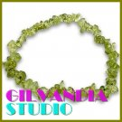 GILVANDIA STUDIO handcrafted Vitreous yellow-green natural stones fashion bracelet on sale.