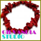 GILVANDIA STUDIO handcrafted Vitreous red natural stones fashion bracelet on sale.