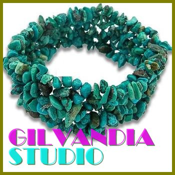 GILVANDIA STUDIO handcrafted turquoise tribal design fashion bracelet on sale.