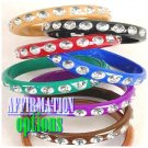 Layer on the set of 6 extra large colored fashion bracelets with featured large ice stones.