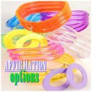 A set of 6 fashion bracelets for stacking featuring large wave design in bright colors