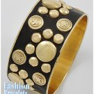Gold and black bangle fashion bracelet and free fashion gifts by AFFIRMATION COUTURE.