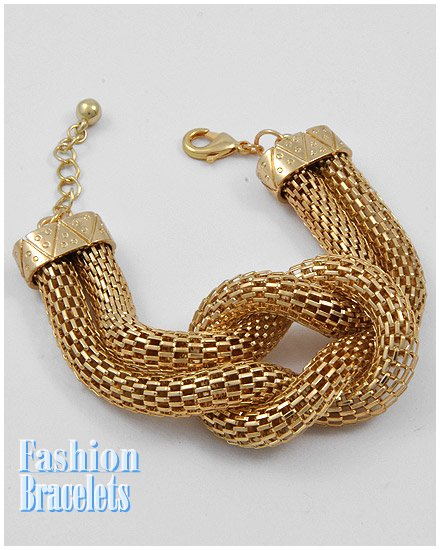 Goldtone skin mesh fashion bracelet and free fashion gifts by AFFIRMATION COUTURE.