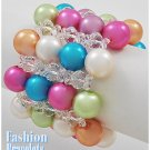 Multi flavored acrylic pearls fashion bracelet and free fashion gifts by AFFIRMATION COUTURE.