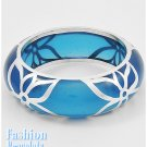 Royal blue acrylic high fashion bracelet and free fashion gifts by AFFIRMATION COUTURE.