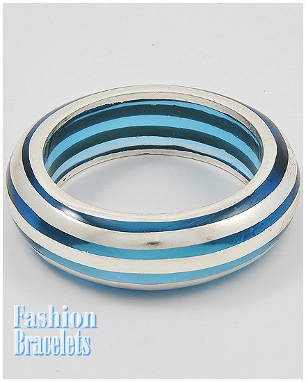 Ice blue acrylic high fashion bracelet and free fashion gifts by AFFIRMATION COUTURE.