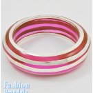Fuchsia acrylic high fashion bracelet and free fashion gifts by AFFIRMATION COUTURE.