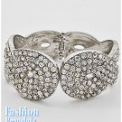 Rhinestones high fashion bracelet and free fashion gifts by AFFIRMATION COUTURE.