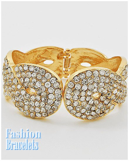 CZ rhinestones fashion bracelet and free fashion gifts by AFFIRMATION COUTURE.