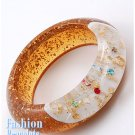 Cinnamon acrylic bangle fashion bracelet and free fashion gifts by AFFIRMATION COUTURE.