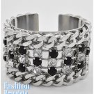 High-fashion black stone fashion bracelet and free fashion gifts by AFFIRMATION COUTURE.