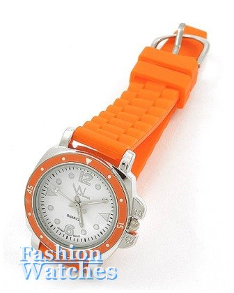 If your personality doesn't pop, this Blazing Orange, accent fashion watch is not for you.