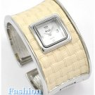 This Ivory Leatherette Cuff, fashion watch delivers an understated touch of elegance