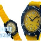 Handsome yellow jelly celebrity fashion watch on sale now.