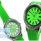 Fantastic smooth green jelly celebrity fashion watch on sale now.