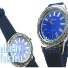 Impeccable navy jelly celebrity fashion watch on sale now.