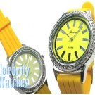 Smooth 'Vette yellow acrylic celebrity fashion watch on sale now.