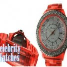 Smooth 'Vette red acrylic celebrity fashion watch on sale now.