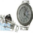 Celebrity Fashion Watches in Smooth Clear Acrylic on sale.