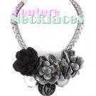JONFRANCA women's Paramount smoke grey acrylic pearls detailed necklace on sale.
