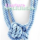 JONFRANCA women's Paramount baby blue multi strand cord necklace on sale.
