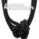 JONFRANCA women's Paramount black multi strand cord necklace on sale.
