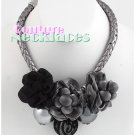 JONFRANCA women's Paramount black and grey Tessuto black cord necklace on sale.