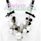 JONFRANCA women's Paramount Tessuto black cord necklace on sale.
