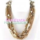 JONFRANCA women's Paramount selected seeds and chains fashion necklace on sale.