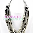 JONFRANCA women's Paramount selected beige and black seeds fashion necklace on sale.
