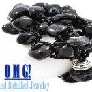 JONFRANCA women's jet black Paramount® resin stones fashion bracelet on sale.