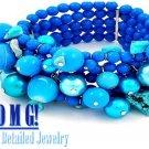 JONFRANCA women's sea blue Paramount® resin stones fashion bracelet on sale.