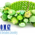 JONFRANCA women's garden green Paramount® resin stones fashion bracelet on sale.