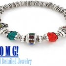 JONFRANCA women's multi colored ice glass crystal fashion bracelet on sale.