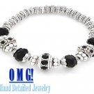 JONFRANCA women's jet black ice glass crystal fashion bracelet on sale.