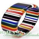 JONFRANCA celebrity runway design, block acrylic fashion bracelet.