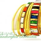 JONFRANCA celebrity runway design, multi Mosaic stone fashion bracelet.
