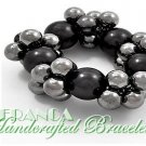 JONFRANCA celebrity runway design, grand pearl cluster fashion bracelet.