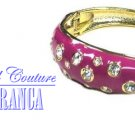 Gemstone, crystals and enamel fashion bracelet with free fashion gifts by JONFRANCA.