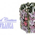 Candy pink crystals fashion bracelet with free complimentary gifts by JONFRANCA.