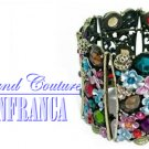 Kingdom pink crystals fashion bracelet with free complimentary gifts by JONFRANCA.