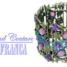 Jewel tone fashion bracelet with free complimentary gifts by JONFRANCA.