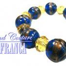 Yellow crystals fashion bracelet with free complimentary gifts by JONFRANCA.