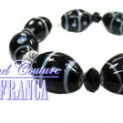 Blue ribbon glass beads fashion bracelet with free complimentary gifts by JONFRANCA.