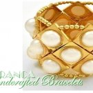JONFRANCA fashion bracelet featuring a goldmoda highly polished stretch bangle bracelet.