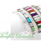 Paramount® Mosaic stones and epoxy festive colors.  JONFRANCA fashion bracelet.