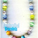 GILVANDIA COUTURE handcrafted rainbow color stones fashion bracelet on sale.