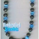 GILVANDIA COUTURE handcrafted blue African panther eye stones fashion bracelet on sale.