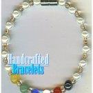 AFFIRMATION MUNDO handcrafted Brazilian colorful gemstones fashion bracelet on special.